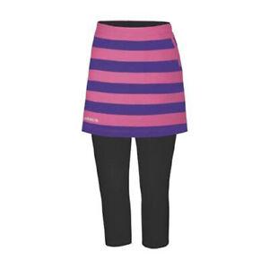 Adidas Women's Fashion Perfomance Stripe Skort Skirt w/ Contrast Capri