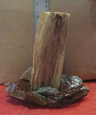 Driftwood Aquarium Ornament w/ Natural Stone (d) Freshwater Aquarium Decor SM