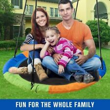 40 Inch Saucer Tree Swing Large Adjustable Ropes for Kids Adults Waterproof
