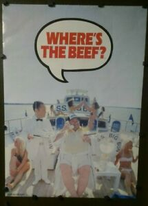"""""""Where's The Beef?"""" Big Bun Owner Answering Phone Yacht SS Big Bun 1984 Wendy's"""