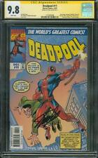 Deadpool 11 CGC 9.8 SS Stan Lee Signed 1997 Amazing Fantasy 15 homage cover