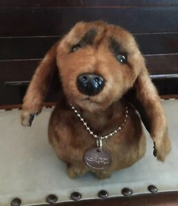 Cute, Quirky, Rare Fuzzy Nation 'Love on a Leash' Dachshund Puppy Purse Handbag