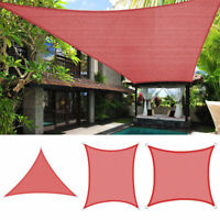 10' 12' 16'  Outdoor Sun Shade Sail UV Block Patio Pool Red Top Canopy Cover