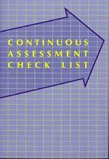 Teacher assessment book - Continuous Assessment Checklist