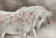 """Advertising Horse"" Judy Larson Western Fine Art Giclee Canvas"