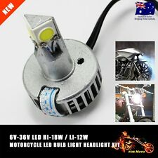 LED H6 Motorcycle 6V 12V 36V COB LED Hi/Lo Beam Headlight Front Light Bulb Lamp