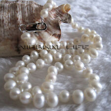 "16"" 5-6mm White AA Freshwater Pearl Necklace Child Jewelry L AC"