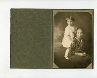 Vintage Studio Photo in Folder - Denver, Colorado - 2 Cute Little Girls
