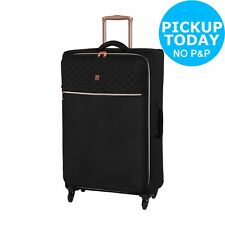 IT Luggage Expandable 4-Wheel Retractable Handle Suitcase - Black