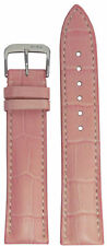 19mm RIOS1931 for Panatime Pink - New Orleans Leather Watch Band w Gator Print 1