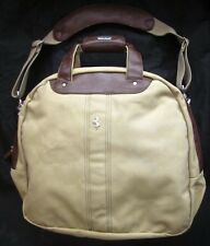 BORSA FILA FERRARI official in cotone e pelle tracolla bag cotton leather usata