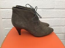 Grey Suede Diavolina Laced Boots 6