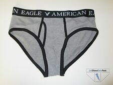 American Eagle AE Mens Classic Brief Gray & Black Stretch Cotton Medium New NWOT
