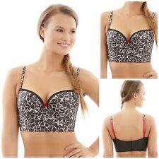 c43c916596c28 Cleo by Panache Breeze Padded Longline Bra Leopard Print 9025 Cleo Lingerie  34 G