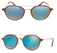 fdd16a8d989 NEW Rayban Sunglasses RB4287 604 B7 55 Brown Silver Blue LightRay round  GENUINE