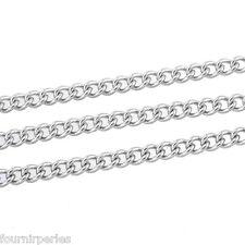 10M Chaîne Maille petit anneaux Acier inoxydable  4x3mm