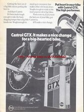 "Castrol GTX ""Big Hearted Bike"" 1973 Magazine Advert #1011"