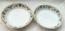 """2 Limoges France Vignaud Porcelain 7 1/2"""" Soup Bowls BIRD OF PARADISE  903"""
