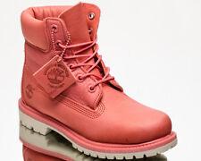 Timberland 6 Inch Icon Premium Waterproof Boots Women's Dark Pink Lifestyle Shoe