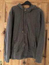 GAP Mens Grey Fleece Lined Zipped Hooded Top Size M