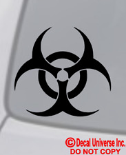 BIOHAZARD Vinyl Decal Sticker Car Window Wall Bumper Symbol Logo Warning Zombie
