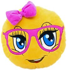 Cute Girl Face Emoji Pillow Emoticon Cushion Soft Plush Toy Doll 32CM USA SELLER