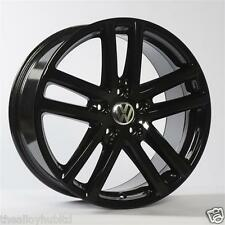 "GENUINE VOLKSWAGEN 5X120 TWIN SPOKE GLOSS BLACK 19"" INCH ALLOY WHEELS X4,TOUAREG"