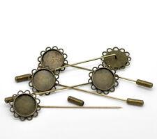 SUPPORTS POUR BROCHE EPINGLE pour camée  fabrication de BIJOUX x 2