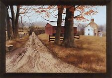THE ROAD HOME by Billy Jacobs Primitive Farm Barn 28x40 FRAMED ART PRINT PICTURE