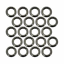 (20) Gunmetal Plated Open Jump Rings 5mm Diameter 18 Gauge Jewelry Beading Wire