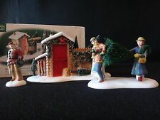 """Dept 56 Christmas in the City """"Picking Out The Christmas Tree"""" retired 2006"""