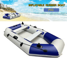 Portable 4 Person Inflatable Boat Raft with Oars and Pump