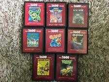 RARE 8-GAME ATARI 2600 RED LABEL LOT: YARS' REVENGE, Q-BERT, ETC. SHIPS QUICK!