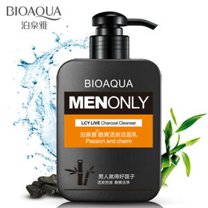 BIOAQUA MEN Bamboo Live Charcoal Cleanser Fresh & Clean Face Passion Charm 168g