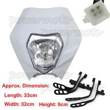 White Motorcycle Headlight For KTM R SX EXC XC XCF SXF 65 85 105 250 350 450 525