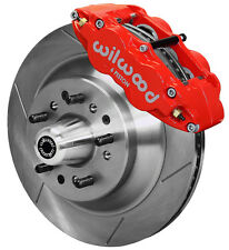 "WILWOOD DISC BRAKE KIT,FRONT,58-68 FORD,MERCURY,13"" ROTORS,RED CALIPERS"