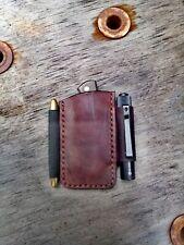 Benchmade Proper Olight I3t Eos Fisher Space Pen Leder Etui Pouch Scheide Custom