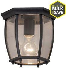 Ceiling Flush Mount Lighting Fixture Portfolio 7.68-in Matte Black Outdoor Light