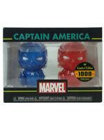 Funko Hikari XS Captain America Figure Set Blue & Red Marvel Limited 1000