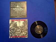 """All Out War - Destined to Burn 7"""" - 100 Demons, Terror, Vein, Hatebreed, NYHC OI"""