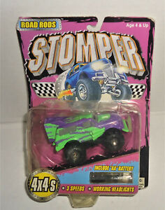 2000 Tinco 4x4 Stompers Road Rods Bronco Purple New/ card Working Headlight