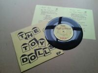 "TOY DOLLS - EP UK 7"" vinyl VG+/VG+ & insert! GBH 1981 GRC 104 Punk"