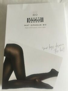 Wolford Mat Opaque 80 in Black Large UK 16 size perfect condition /