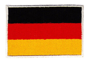 Ad39 Germany Flag Sew-On Iron-On Patches 2 7/8x1 7/8in