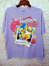 The Simpsons Best Vacation Ever T Shirt Bart Homer XL