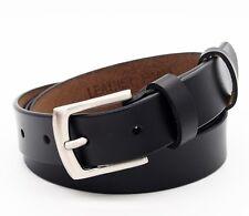 Leather Belt real Curl plain barb rectangular Mixed mens women