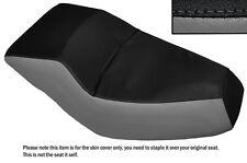 BLACK & GREY CUSTOM FITS HONDA HELIX CN 250 DUAL LEATHER SEAT COVER
