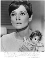 AUDREY HEPBURN great character still with doll -- (n477)