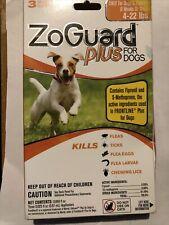 ZoGuard Plus Small Dogs/Puppies 4-22lb Kills Fleas Ticks 3 Month Supply
