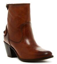 NWT Frye Jackie Leather Zip Short Boot, #76302, Redwood (Brown), sz 9.5B - $358